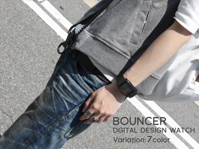 BOUNCER SPORTSデジタル腕時計